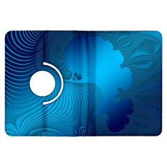 Fractals Lines Wave Pattern Kindle Fire Hdx Flip 360 Case by Simbadda