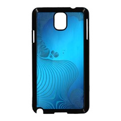 Fractals Lines Wave Pattern Samsung Galaxy Note 3 Neo Hardshell Case (black) by Simbadda