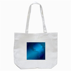 Fractals Lines Wave Pattern Tote Bag (white) by Simbadda