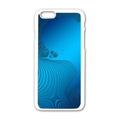 Fractals Lines Wave Pattern Apple Iphone 6/6s White Enamel Case by Simbadda