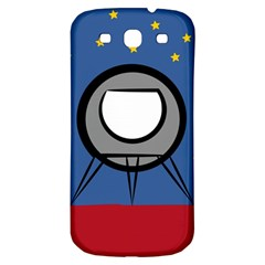 A Rocket Ship Sits On A Red Planet With Gold Stars In The Background Samsung Galaxy S3 S Iii Classic Hardshell Back Case by Simbadda