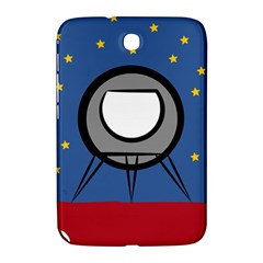A Rocket Ship Sits On A Red Planet With Gold Stars In The Background Samsung Galaxy Note 8 0 N5100 Hardshell Case  by Simbadda