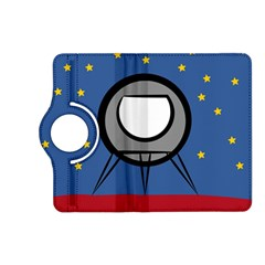 A Rocket Ship Sits On A Red Planet With Gold Stars In The Background Kindle Fire Hd (2013) Flip 360 Case by Simbadda
