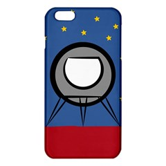 A Rocket Ship Sits On A Red Planet With Gold Stars In The Background Iphone 6 Plus/6s Plus Tpu Case