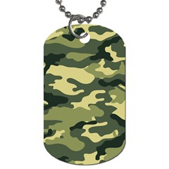 Camouflage Camo Pattern Dog Tag (two Sides) by Simbadda