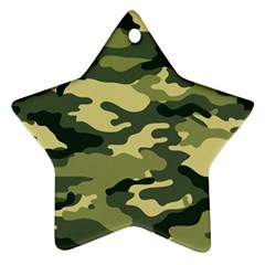 Camouflage Camo Pattern Star Ornament (two Sides) by Simbadda