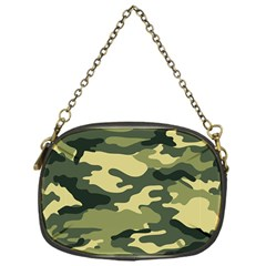 Camouflage Camo Pattern Chain Purses (one Side)  by Simbadda