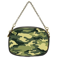 Camouflage Camo Pattern Chain Purses (two Sides)  by Simbadda