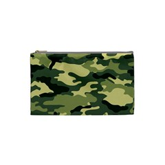 Camouflage Camo Pattern Cosmetic Bag (small)  by Simbadda