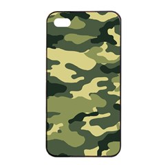 Camouflage Camo Pattern Apple Iphone 4/4s Seamless Case (black) by Simbadda