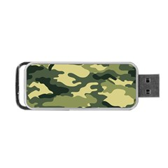 Camouflage Camo Pattern Portable Usb Flash (two Sides) by Simbadda