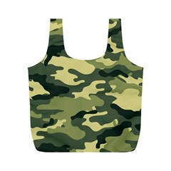 Camouflage Camo Pattern Full Print Recycle Bags (m)  by Simbadda
