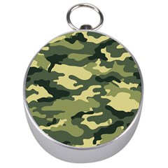 Camouflage Camo Pattern Silver Compasses by Simbadda