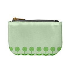 Floral Stripes Card In Green Mini Coin Purses by Simbadda