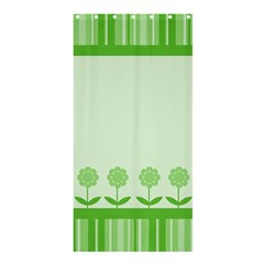 Floral Stripes Card In Green Shower Curtain 36  X 72  (stall)  by Simbadda