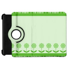 Floral Stripes Card In Green Kindle Fire Hd 7  by Simbadda