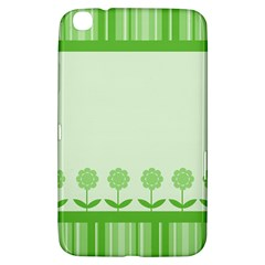 Floral Stripes Card In Green Samsung Galaxy Tab 3 (8 ) T3100 Hardshell Case  by Simbadda