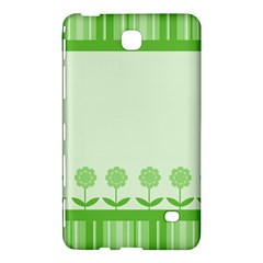 Floral Stripes Card In Green Samsung Galaxy Tab 4 (8 ) Hardshell Case  by Simbadda