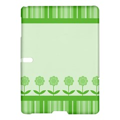 Floral Stripes Card In Green Samsung Galaxy Tab S (10 5 ) Hardshell Case  by Simbadda