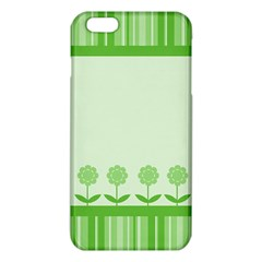 Floral Stripes Card In Green Iphone 6 Plus/6s Plus Tpu Case by Simbadda