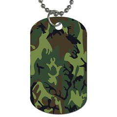 Military Camouflage Pattern Dog Tag (two Sides) by Simbadda
