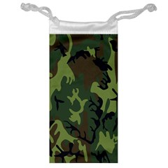 Military Camouflage Pattern Jewelry Bag by Simbadda