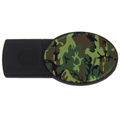 Military Camouflage Pattern Usb Flash Drive Oval (4 Gb) by Simbadda