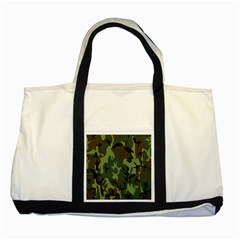 Military Camouflage Pattern Two Tone Tote Bag by Simbadda
