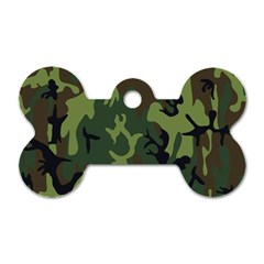 Military Camouflage Pattern Dog Tag Bone (one Side)