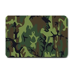 Military Camouflage Pattern Small Doormat  by Simbadda