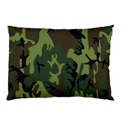 Military Camouflage Pattern Pillow Case by Simbadda