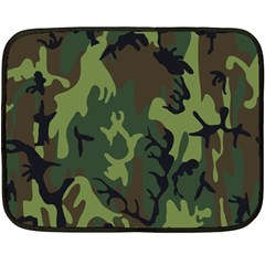 Military Camouflage Pattern Double Sided Fleece Blanket (mini)  by Simbadda