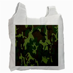 Military Camouflage Pattern Recycle Bag (two Side)  by Simbadda
