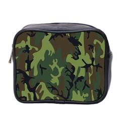 Military Camouflage Pattern Mini Toiletries Bag 2 Side by Simbadda