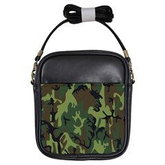 Military Camouflage Pattern Girls Sling Bags by Simbadda