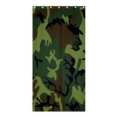 Military Camouflage Pattern Shower Curtain 36  X 72  (stall)  by Simbadda