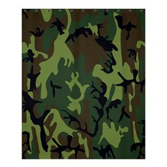 Military Camouflage Pattern Shower Curtain 60  X 72  (medium)  by Simbadda