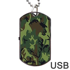 Military Camouflage Pattern Dog Tag Usb Flash (one Side)