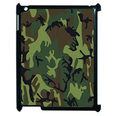 Military Camouflage Pattern Apple Ipad 2 Case (black) by Simbadda