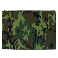 Military Camouflage Pattern Cosmetic Bag (xxl)  by Simbadda