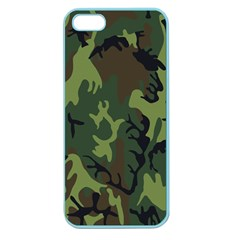Military Camouflage Pattern Apple Seamless Iphone 5 Case (color) by Simbadda