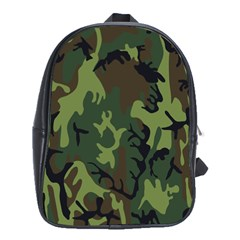 Military Camouflage Pattern School Bags (xl)  by Simbadda