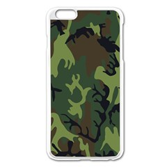 Military Camouflage Pattern Apple Iphone 6 Plus/6s Plus Enamel White Case by Simbadda