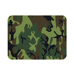Military Camouflage Pattern Double Sided Flano Blanket (mini)  by Simbadda