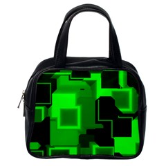 Green Cyber Glow Pattern Classic Handbags (one Side) by Simbadda