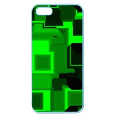 Green Cyber Glow Pattern Apple Seamless Iphone 5 Case (color) by Simbadda