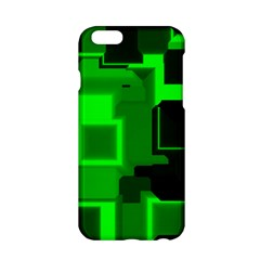 Green Cyber Glow Pattern Apple Iphone 6/6s Hardshell Case by Simbadda