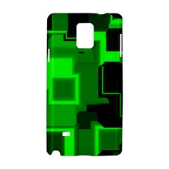 Green Cyber Glow Pattern Samsung Galaxy Note 4 Hardshell Case by Simbadda