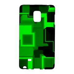 Green Cyber Glow Pattern Galaxy Note Edge by Simbadda
