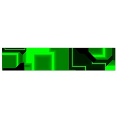 Green Cyber Glow Pattern Flano Scarf (small)